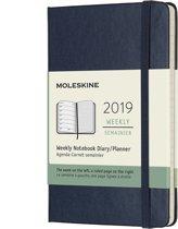Moleskine agenda 12 maanden - Wekelijks 2019 donkerblauw - Pocket - Hard Cover