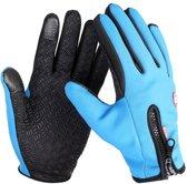 size M - Waterproof Handschoenen met Touchscreen vingers - Medium Warme handschoenen met comfortabele voering - Blauw - Motor / Fiets / Buitensport - Unisex - Extra grip - Geschikt voor smartphone gebruik