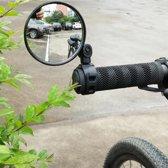 Universeele fietsspiegel, stuurbevestiging, stuur spiegel, makkelijk verstelbaar, draaibaar, achteruitkijkspiegel, fiets veiligheid, easy fit, makkelijk te monteren