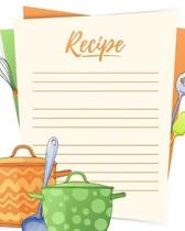 Recipe: Cute Colorful Cover Design Recipe Book Planner Journal Notebook Organizer Gift - Favorite Family Serving Ingredients P
