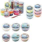 Foam Clay (klei) supervoordeelpakket assorti 40 stuks met spatels