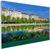 FotoCadeau.nl - Het Belvedere Paleis Glas 30x20 cm - Foto print op Glas (Plexiglas wanddecoratie)