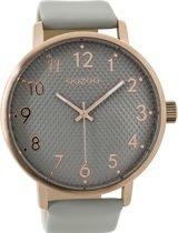 OOZOO Timepieces C9400 Rosé Grijs 48mm