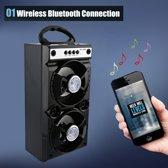 Draagbare BOOMBOX Licht Effecten Boombox Bluetooth Speaker met SD SLOT FM Radio & AUX I Zwart
