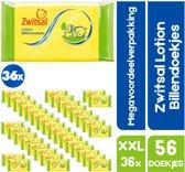 XXL Megavoordeelverpakking 36 x 65 Zwitsal baby Billendoekjes Lotion - Voordeelverpakking XXL - 36 x 65 baby Lotion billendoekjes