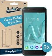 Just in Case Screen Protector voor Wiko Harry - Crystal Clear - 3 stuks