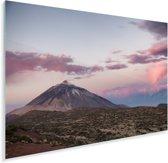 Teide vulkaan bij zonsopgang in het Nationaal park Teide in Spanje Plexiglas 90x60 cm - Foto print op Glas (Plexiglas wanddecoratie)