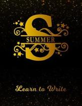 Summer Learn to Write