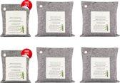 100% Natuurlijke Bamboe Luchtreiniger - Luchtfilter - Luchtverfrisser - 4x500 Gram + 2x200g gratis