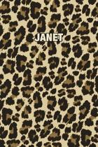 Janet: Personalized Notebook - Leopard Print (Animal Pattern). Blank College Ruled (Lined) Journal for Notes, Journaling, Dia