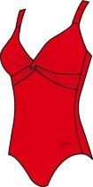 Speedo Brigitte Dames Badpak  - Rood - Maat 48