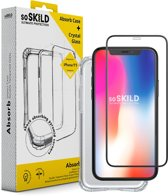 SoSkild iPhone 11 Pro Max Absorb Impact Case Slightly Grey and Tempered Glass