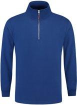 Tricorp Sweater ritskraag - Casual - 301010 - koningsblauw - maat XL