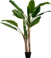 WOOOD Bananenplant Kunstplant - Groen - 138x97x95
