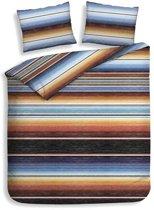 Heckett & Lane Serape - Flanel - Dekbedovertrek - Eenpersoons - 140x200/220 cm + 1 kussensloop 60x70 cm - Multi kleur