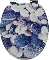 EISL WC-Bril EDGS01SC - MDF-Hout - Soft Close - Verchroomde Scharnieren - Decor -3-zijdige Print - Grey Stone