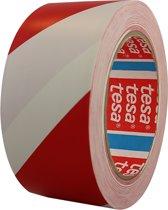 Vloermarkeringstape 5cm (Rood/Wit)