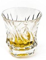 Schitterende BAMBOO whisky glazen (6 stuks) van kristalglas