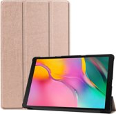 Samsung Galaxy Tab A 10.1 (2019) Hoes Book Case Hoesje Cover Rosé Goud