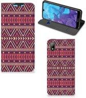 Huawei Y5 (2019) Hoesje met Magneet Aztec Purple
