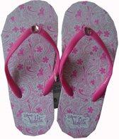 Slippers van Violetta, wit-roze maat 31/32