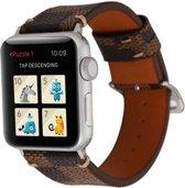 123Watches.nl Leren bandje - Apple Watch Series 1/2/3/4 (42&44mm) - Bruin