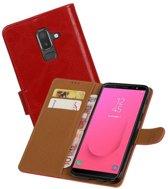 Zakelijke Bookstyle Hoesje Samsung Galaxy J8 Rood