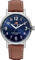 River Woods RW420013 Sacramento horloge Heren - Bruin - Leer 42 mm