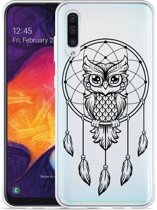 Galaxy A30s Hoesje Dream Owl Mandala Black