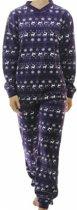 Lunatex velours meiden pyjama Nordic 9861/ 9461  - 128  - Paars