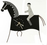 Wandklok paard ruitersport thema dieren cadeaus paarden