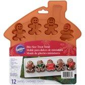 Wilton Siliconen bakvorm - Gingerbread Poppetjes - 12 vormpjes