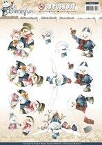 Uitdrukvel  - Precious Marieke - Winterfun - Sneeuwmannen