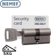 Nemef 142 9 Veiligheids Cilinderslot voor buitendeuren met kerntrekbeveiliging en anti slagpick SKG Security Card