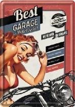 Best Garage for Motorcycles 2 Metalen Postcard 10 x 14 cm.