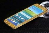 Xssive Glitter Sticker voor Samsung Galaxy S5 G900 of S5 Neo G903 Goud Duo Pack - 2 stuks