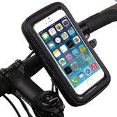 UNIQ Fiets houder - Zwart - Fiets houder voor smartphones Waterdichte Fietshouder Schokbestendig, passende maten: lengte +/- 119-142mm, breedte +/- 55-73mm voor o.a. Iphone 6 / 6s / 7 / 8 en Galaxy S4, S5, S6 edge.