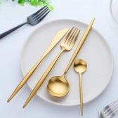 Lusso Elegante - Gouden Bestek Set – Luxe Design – 4 Delig - 1 Persoon