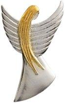 AuBor ®,  Broche, Grote zilveren beschermengel