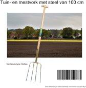 Tuin- en mestvork met stell 100 cm