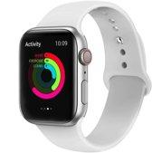 Apple watch 42mm / 44mm rubberen sport bandje - Wit M/L