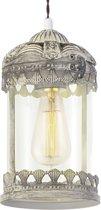 EGLO Vintage - Hanglamp - 1 Lichts - Patina Bruin - Helder Glas