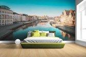 Fotobehang vinyl - Stad in Europa breedte 380 cm x hoogte 265 cm - Foto print op behang (in 7 formaten beschikbaar)