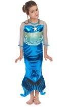Blauwe zeemeermin jurk voor meisjes - Verkleedkleding