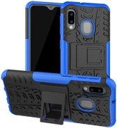 Samsung Galaxy A20e Robuust Hybride Hoesje Blauw
