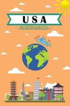 USA Reisetagebuch: Dein pers�nliches Kindertagebuch f�rs Notieren und Sammeln der sch�nsten Erlebnisse in USA - Geschenkidee f�r Abenteur