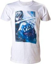 Nintendo Zelda met Link T-shirt Wit XLarge