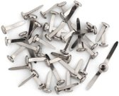 50x Splitpennen zilverkleurige in doosje - Splitpennen/hobbymaterialen