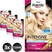 Poly Palette 100 Extra Licht Blond Haarverf - 3 stuks - intensieve, natuurlijke kleuren met 100% grijsdekking