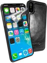 Alston Craig  reserve magnetische hoes voor leren case  Apple iPhone XR - zwart